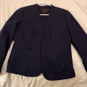 J. Crew wool navy blazer 6T